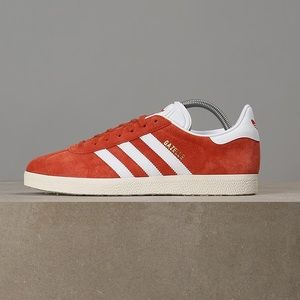 ADIDAS GAZELLE SNEAKERS in FUTURE HARVEST & WHITE